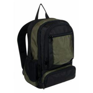 Городской мужской рюкзак (чёрный+олива) 20 л