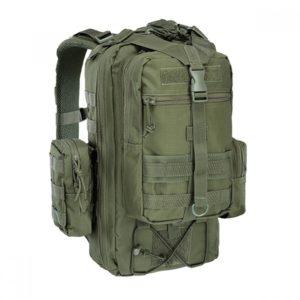 Рюкзак военный (олива) + 2 съёмных подсумка
