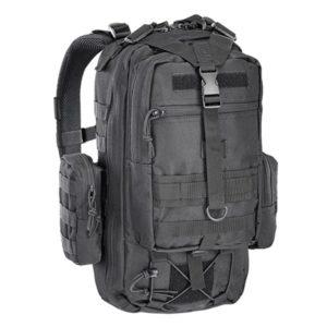 Рюкзак военный (чёрный) + 2 съёмных подсумка