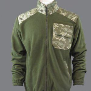 Флисовая кофта армейская (олива)